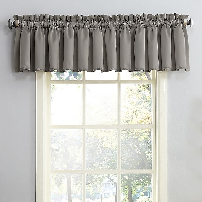 Alternate image 1 for Sun Zero Bella Rod Pocket Room Darkening Window Valance