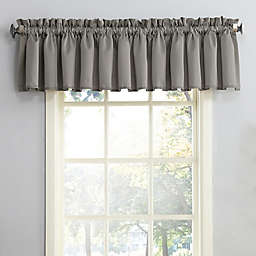 Sun Zero® Bella Rod Pocket Room Darkening Window Valance in Grey