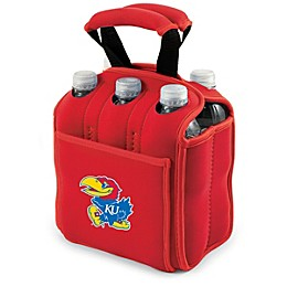 NCAA University of Kansas Activo Collegiate Six Pack Tote in Red