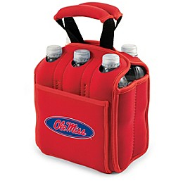 NCAA Activo Collegiate Six Pack Tote in University of Mississippi in Red
