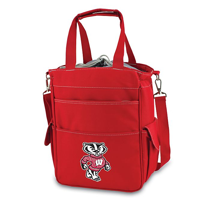 Alternate image 1 for Picnic Time® University of Wisconsin Collegiate Activo Tote in Red