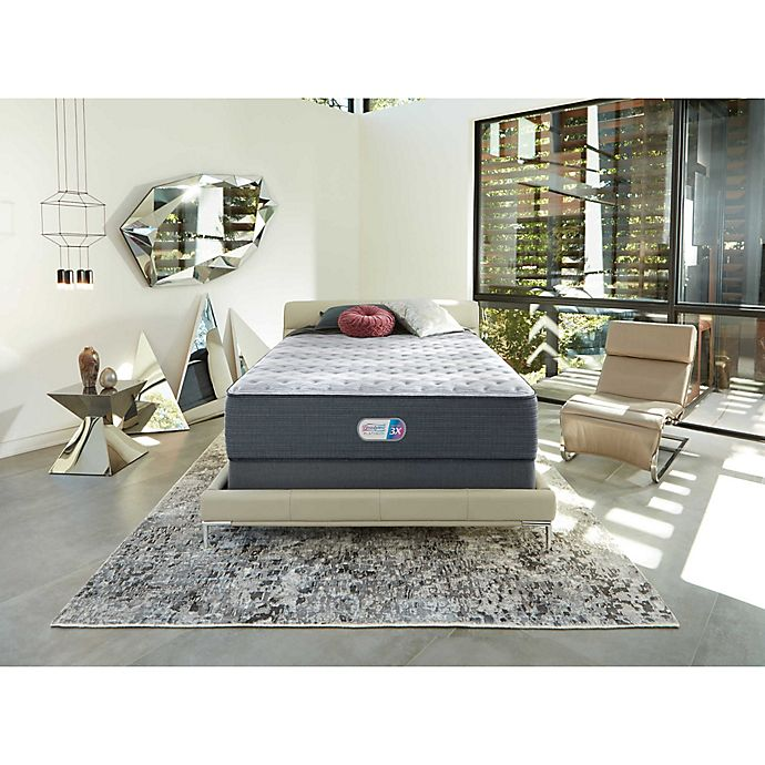 Alternate image 1 for Beautyrest® Platinum™ Jaycrest™ Plush Memory Foam Low Profile Twin XL Mattress Set