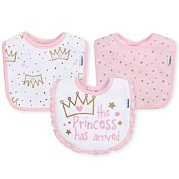 Gerber® 3-Pack Princess Terry Dribbler Bib in Pink