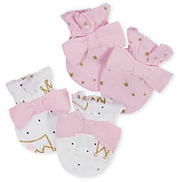 f5bf4c813c9 Gerber® Size 0-3M 2-Pack Princess Mittens in Pink Gold