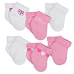 Gerber® Size 0-3M 6-Pack Heart Terry Ankle Bootie Socks in Pink/Blue