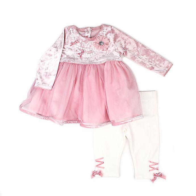 a9fa0c002956 Nanette Baby® 2-Piece Velvet Dress and Legging Set in Blush | buybuy ...