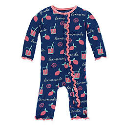 "KicKee Pants® ""Lemonade"" Long Sleeve Coverall in Navy"