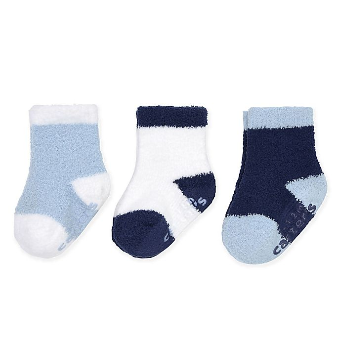 Alternate image 1 for carter's® 3-Pack Chenille Socks in Blue