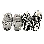 Sterling Baby 2-Pack Striped Booties in Black