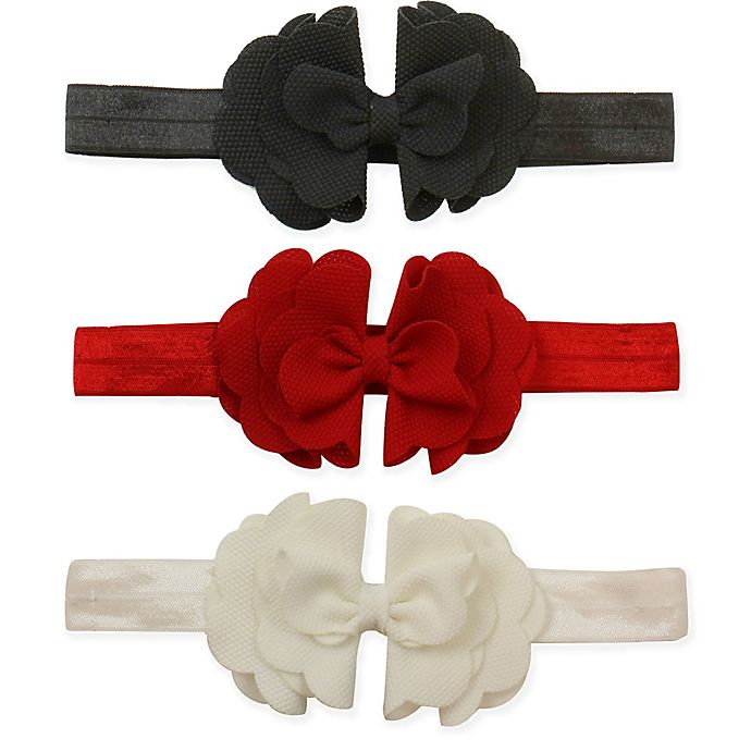 Alternate image 1 for Tiny Treasures 3-Pack Tiered Scallop Bow Headbands