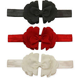 Tiny Treasures 3-Pack Tiered Scallop Bow Headbands