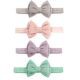 Tiny Treasures 4-Pack Double Bow Headbands