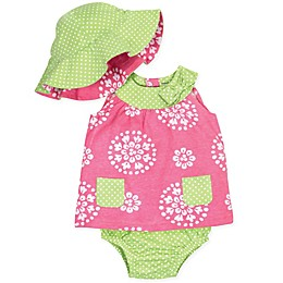 Gerber® 3-Piece Dress Set in Pink/Lime
