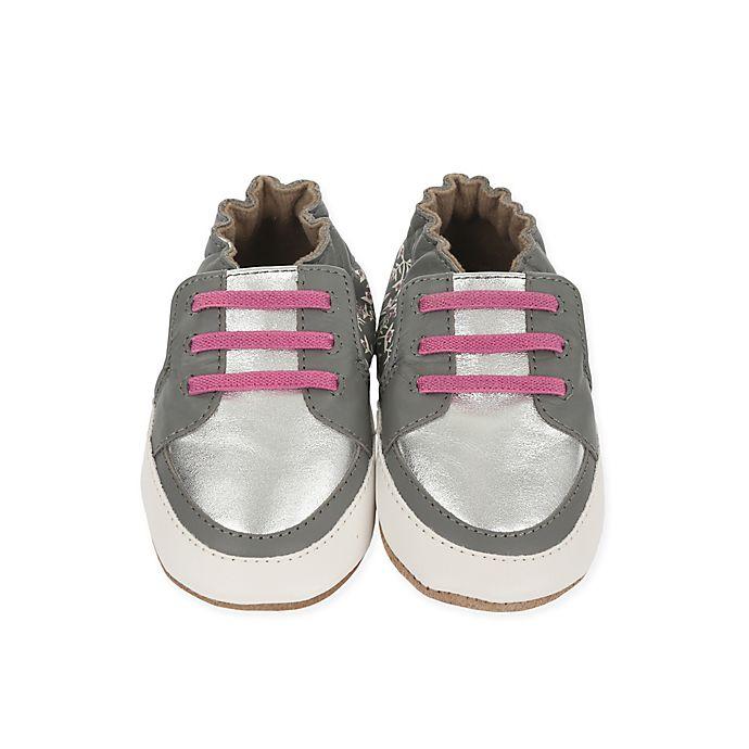 Alternate image 1 for Robeez® Soft Soles Sassy Sophie Shoe in Grey