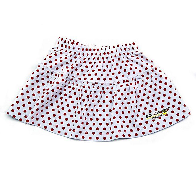 Alternate image 1 for EZ-On BaBeez™ Newborn Red Dot Ruffled Skirt in White
