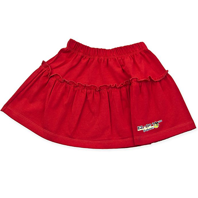 Alternate image 1 for EZ-On BaBeez™ Size 12-18M Ruffled Skirt in Red