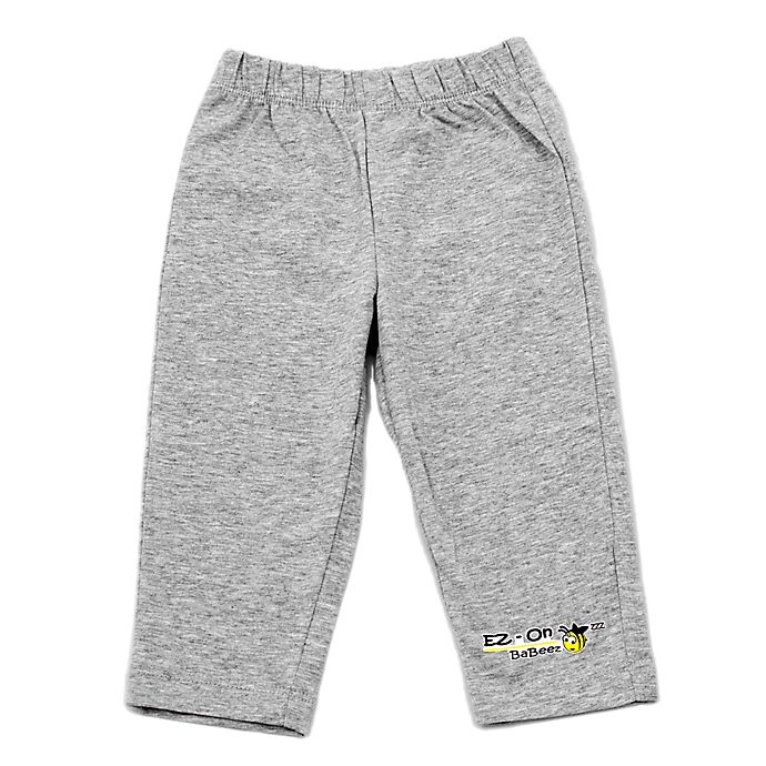 Alternate image 1 for EZ-On BaBeez™ Newborn Pull-On Pant in Heather Grey