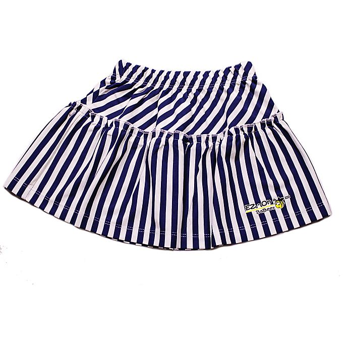 Alternate image 1 for EZ-On BaBeez™ Size 0-3M Stripe Ruffled Skirt in Lapis/White