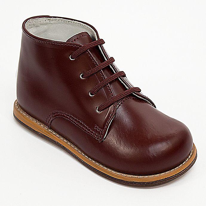 Alternate image 1 for Josmo® Boys' Leather Walk Shoe in Burgundy