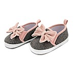 Rising Star™ Size 6-9M Velvet Bow Twin Gore Shoe in Pink