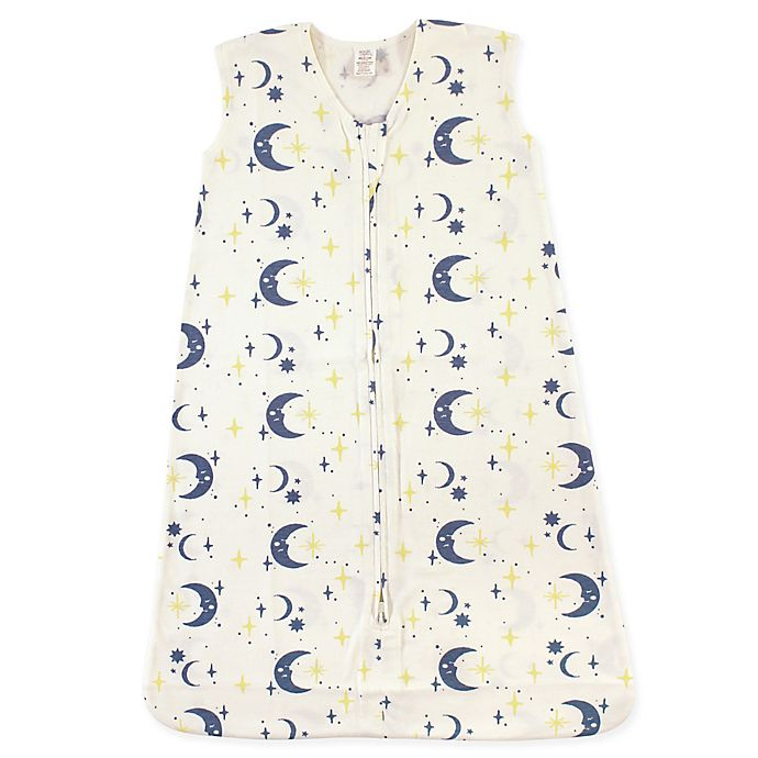 Alternate image 1 for Touched by Nature Moon Organic Cotton Wearable Blanket in Blue