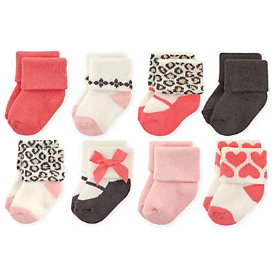 Luvable Friends™ 8-Pack Leopard Socks in Pink