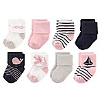 Luvable Friends™ Size 0-6M 8-Pack Sailboat Socks in Pink