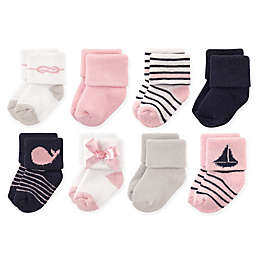 Luvable Friends™ 8-Pack Sailboat Socks in Pink