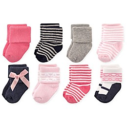 Luvable Friends™ 8-Pack Scroll Socks in Pink