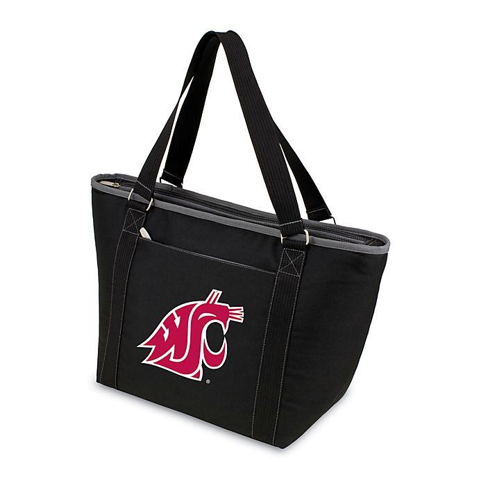 Alternate image 1 for Picnic Time® Washington State University Collegiate Topanga Cooler Tote in Black