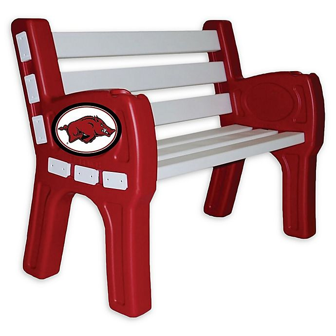 Amazing University Of Arkansas Outdoor Park Bench Machost Co Dining Chair Design Ideas Machostcouk