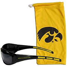 Universkty of Iowa Sunglasses and Bag Set