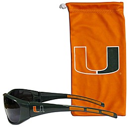 Univeristy of Miami Sunglasses and Bag Set