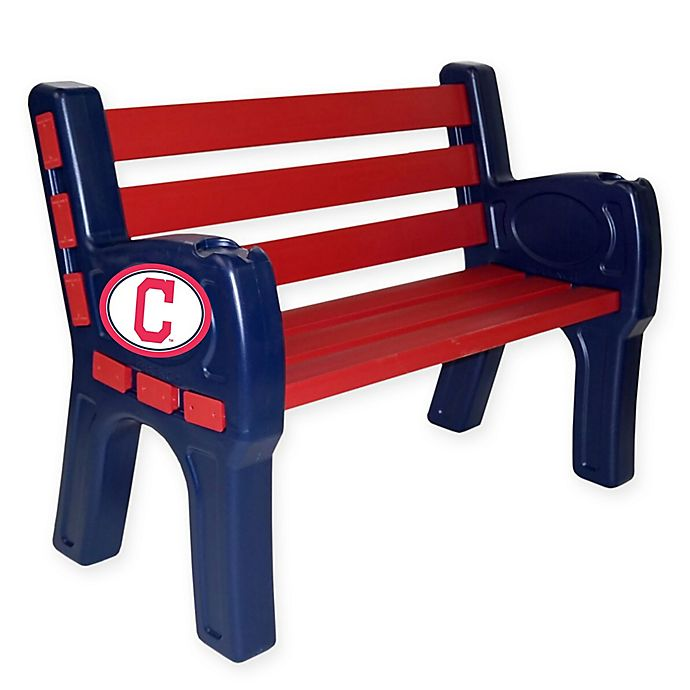 Swell Mlb Cleveland Indians Outdoor Park Bench Bed Bath Beyond Machost Co Dining Chair Design Ideas Machostcouk