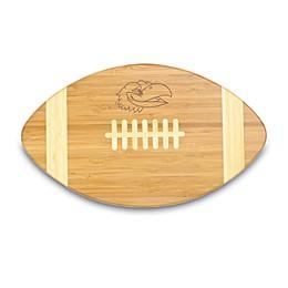 NCAA University of Kansas Touchdown! Bamboo Cutting Board