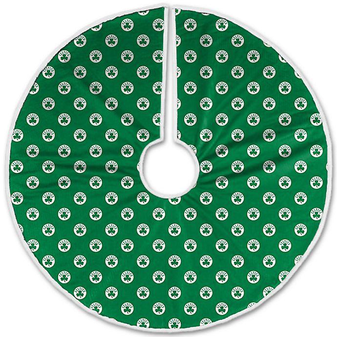 Alternate image 1 for NBA Boston Celtics Christmas Tree Skirt