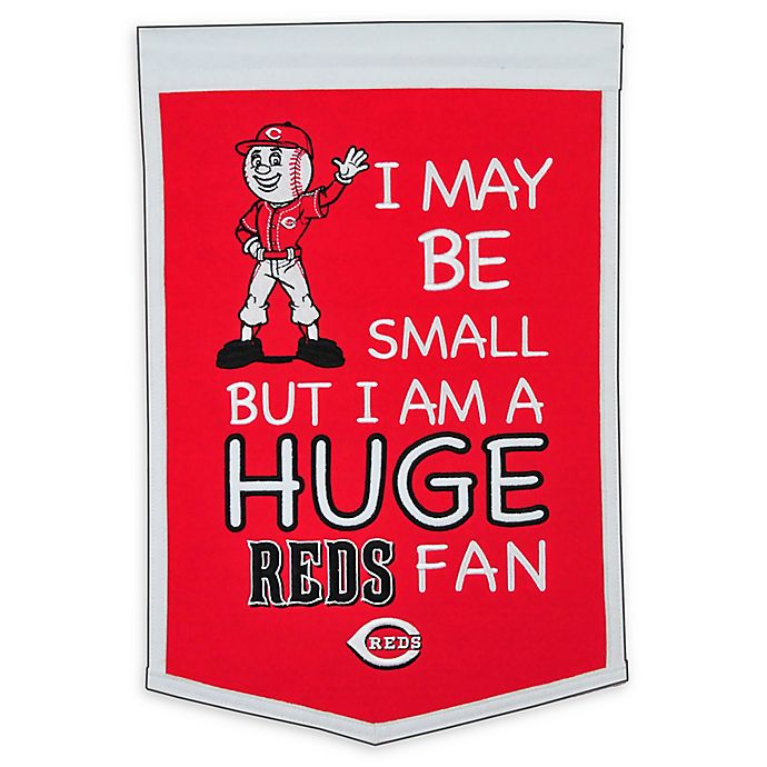 Alternate image 1 for MLB Cincinatti Reds Lil Fan Traditions Banner