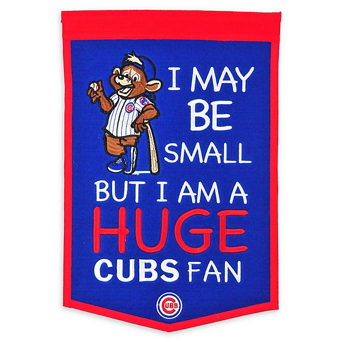 Alternate image 1 for MLB Chicago Cubs Lil Fan Traditions Banner