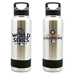 MLB Houston Astros World Champions 40 oz. Stainless Steel Bottle with Screw-on Cap and Handle