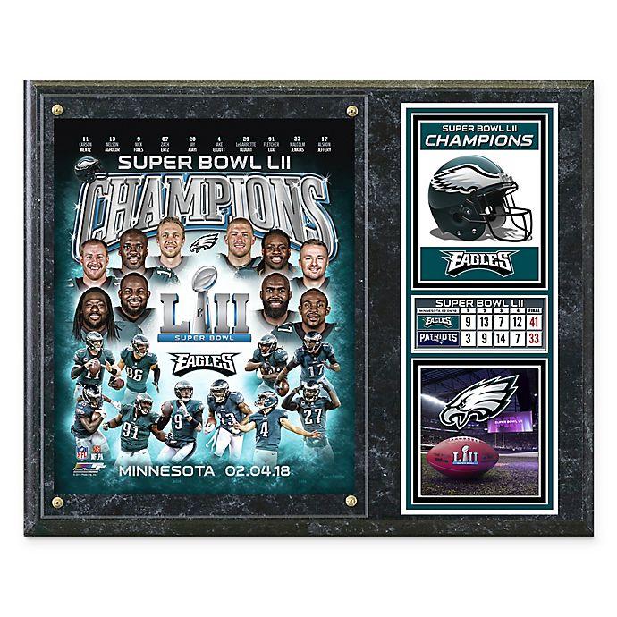 Alternate image 1 for NFL Philadelphia Eagles Super Bowl LII Champions Composite Plaque