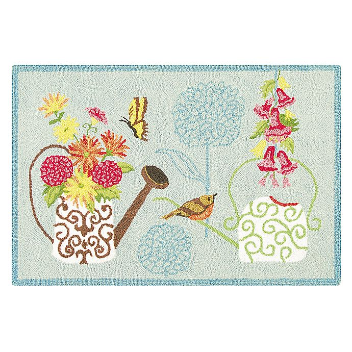Alternate image 1 for C&F Home Flower Power 2' x 3' Accent Rug in Blue