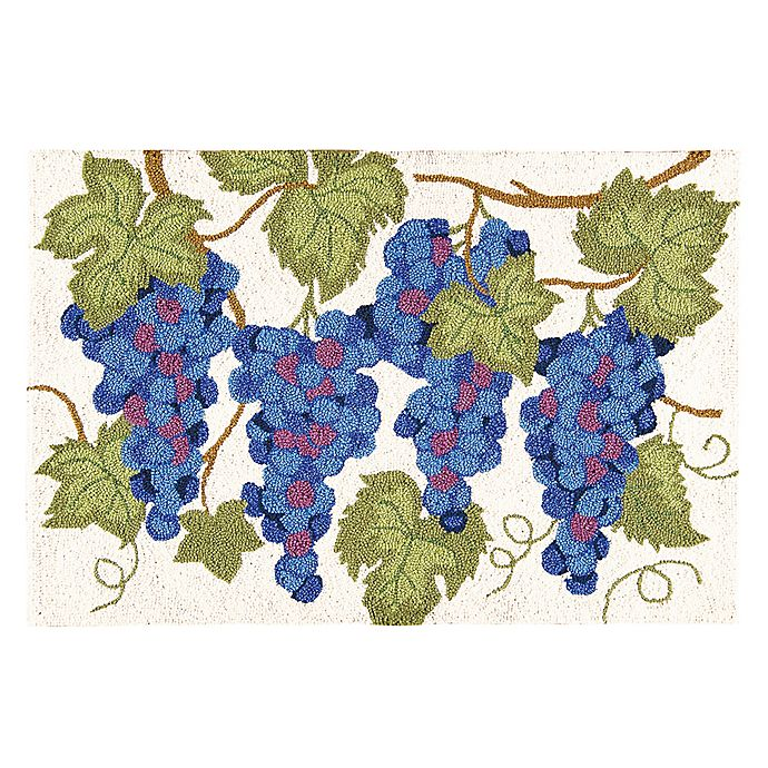 Alternate image 1 for Grapes 2' x 3' Wool Accent Rug in Purple