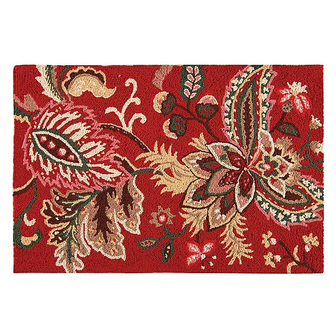 Alternate image 1 for Constantine 2' x 3' Wool Accent Rug in Red