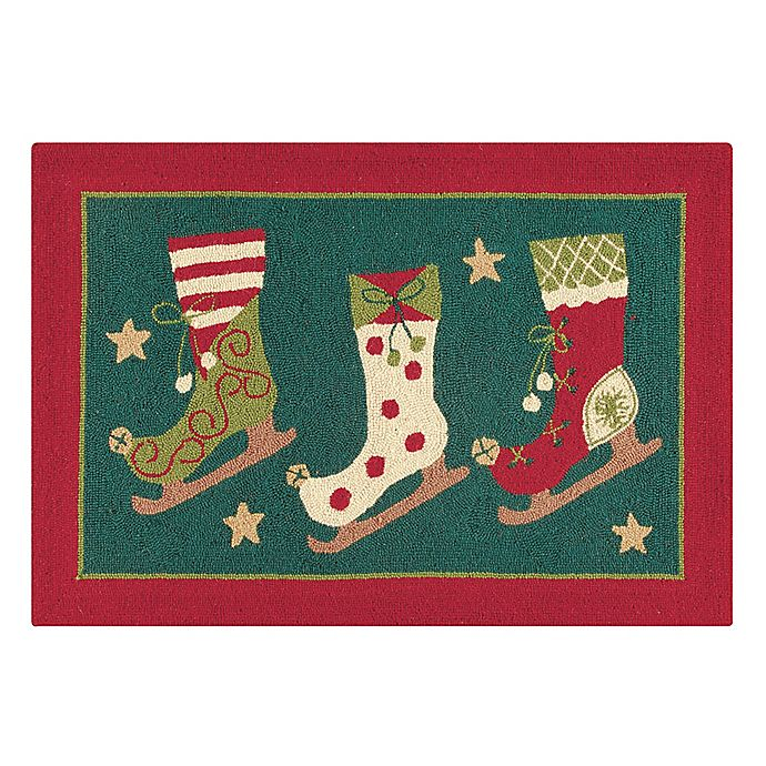Alternate image 1 for C&F Home Ice Skates 2' x 3' Accent Rug in Green