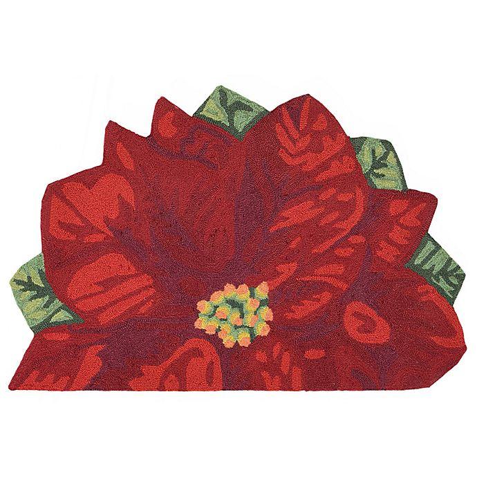 Alternate image 1 for Liorra Manne for Trans Ocean Poinsettia Slice Door Mat in Red