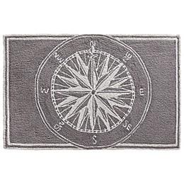 Liora Manne Frontporch 8' Round Compass Rug in Grey