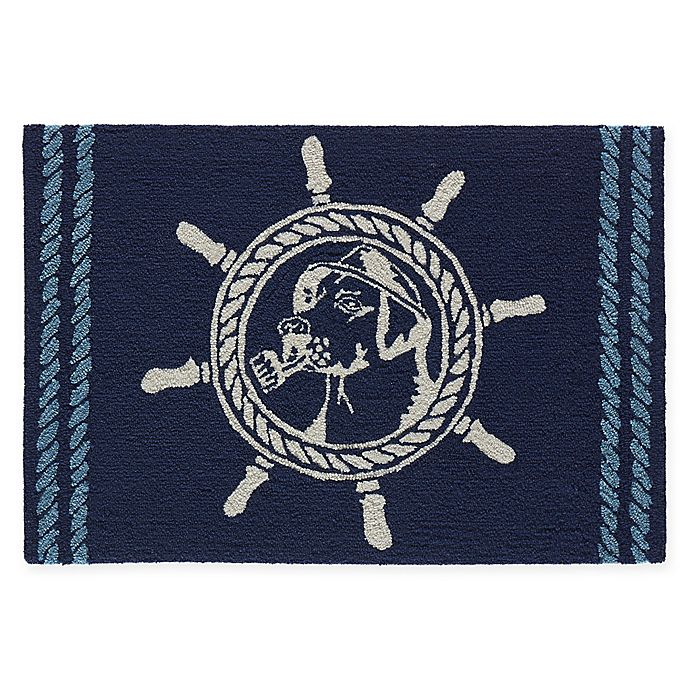 Alternate image 1 for Liora Manne Frontporch 2' x 3' Seadog Accent Rug in Blue