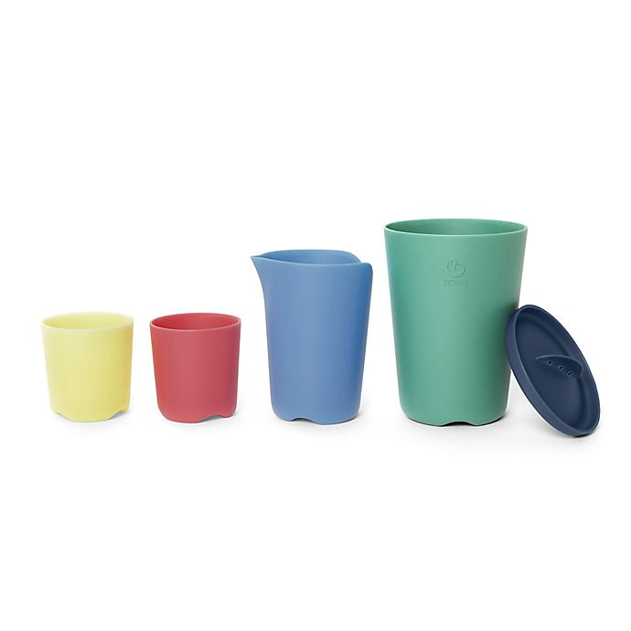 Alternate image 1 for Stokke 5-Piece Flexi Bath Toy Cup Set