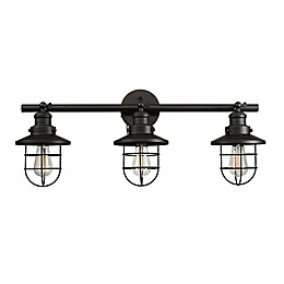 Globe Electric Company Beaufort 3-Light Outdoor Wall Sconce in Oil Rubbed Bronze