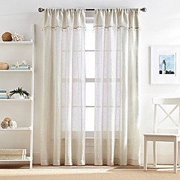 Lagos Rod Pocket Window Curtain Panel with Valance Collection